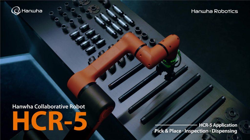 cobot Hanwha HCR-5 - aplicatii