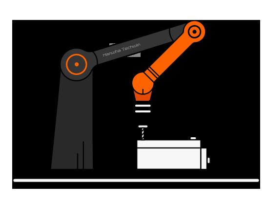 Robot Hanwha HCR - Asamblare / Înșurubare