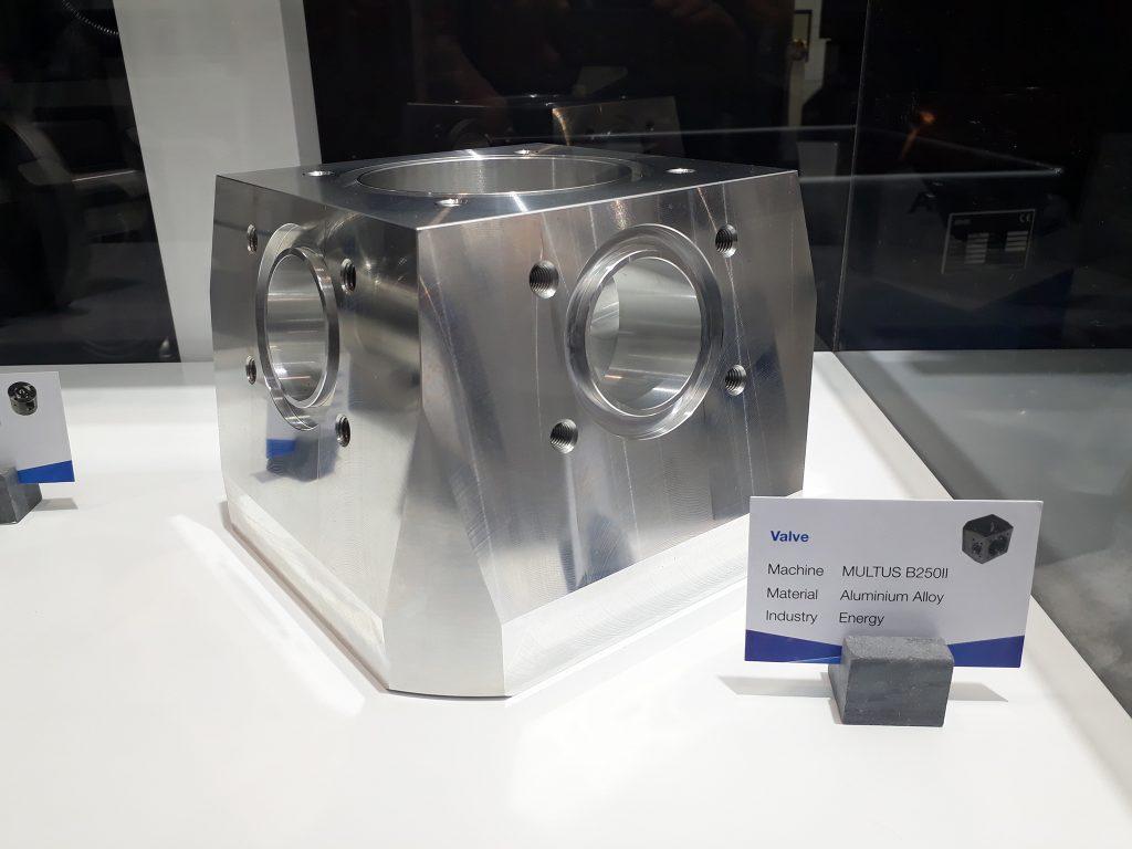 Piesă demo prelucrare pe strungul multifuncțional Okuma - Multus B250II