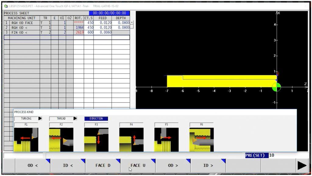 Programare conversațională intuitivă, chiar pe mașina-unealtă - Advanced One Touch IGF