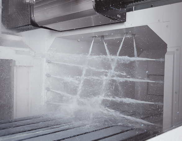 Sistemul de duș Crossrail (opțional) - Centru prelucrare CNC vertical Okuma MB-80V