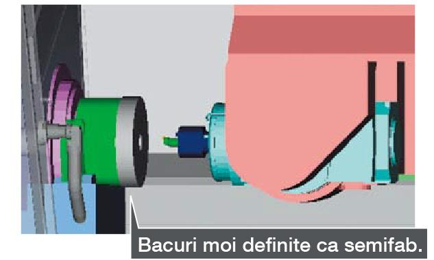 Verificare coliziune definind forma prinderii ca model de material semifabricat - Sistem anti-coliziune mașini CNC