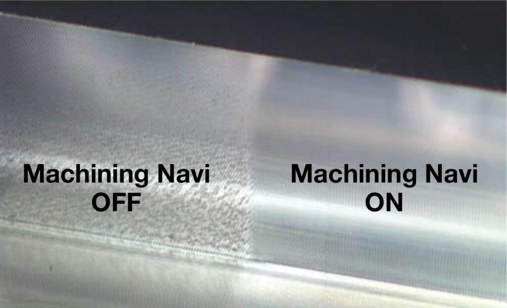 Condiții optime așchiere - suprafață prelucrare fără și cu Machining Navi