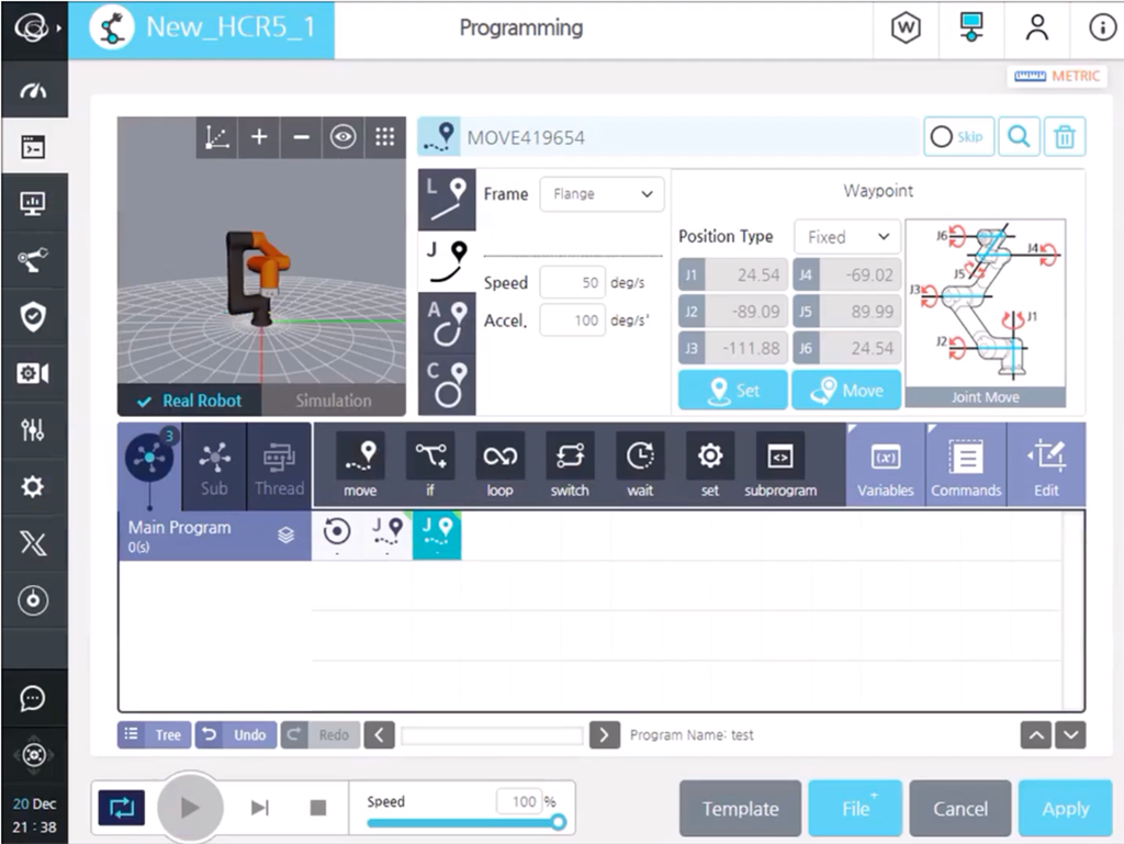 Robotul colaborativ HCR - programare intuitivă